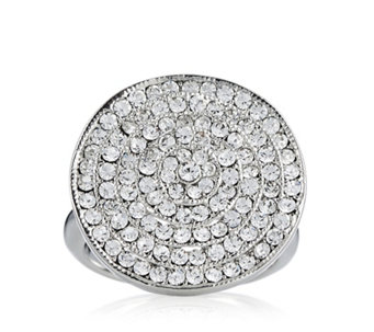 loveRocks Crystal Pave Disc Ring - 306794