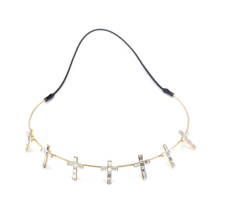 Butler & Wilson Crystal Crosses Hairband