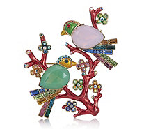 Butler & Wilson Two Crystal Birds on a Branch Brooch - 309994