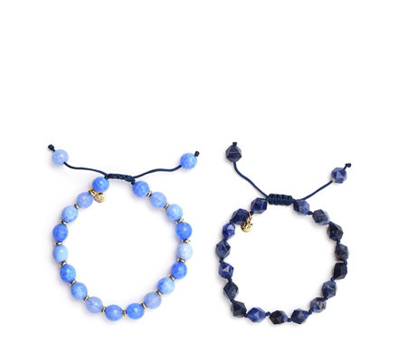 Lola Rose Primrose Hill Set of Two Semi Precious Bracelets
