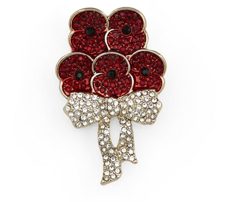 The Poppy Collection Bouquet Sparkle Brooch by Buckley London