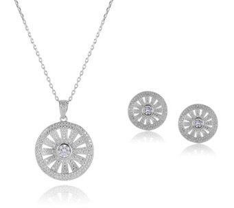 Frank Usher Crystal Earring & 44cm Necklace Set - 306696