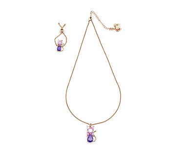 Butler & Wilson CZ Cat Ring & Necklace Set - 312596