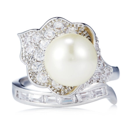 Princess Grace Collection Majorcan Pearl Wedding Gift Ring