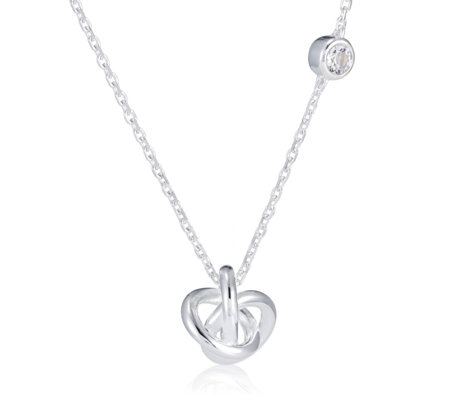 Links of London Love Knot & White Topaz 45cm Necklace Sterling Silver