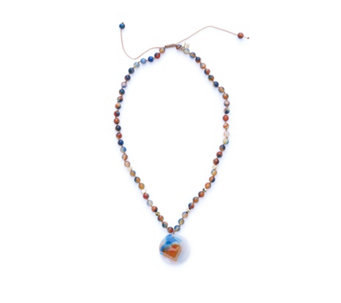 Lola Rose Geotopia Semi Precious Pendant 47cm Necklace - 306898
