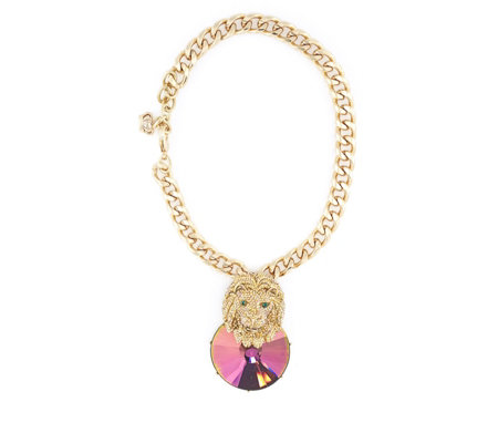 Butler & Wilson Lion Head Crystal 42cm Necklace