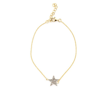 Lisa Snowdon Diamond Baby You're A Star Bracelet Sterling Silver