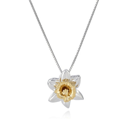 Azendi Daffodil 45cm Necklace Sterling Silver