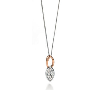 Fiorelli Marquise Pendant 46cm Necklace Rose Gold Plated Sterling Silver - 314698