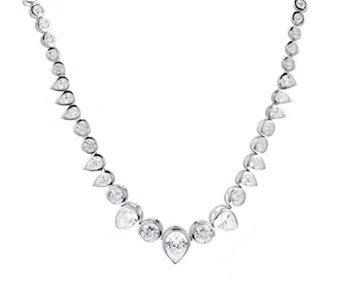 Michelle Mone for Diamonique 17ct tw Statement 42cm Necklace Sterling Silver - 317298