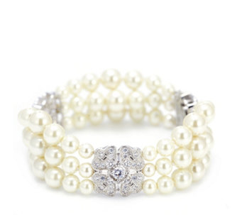 Princess Grace Collection Majorcan Pearl Wedding Gift Bracelet - 307699