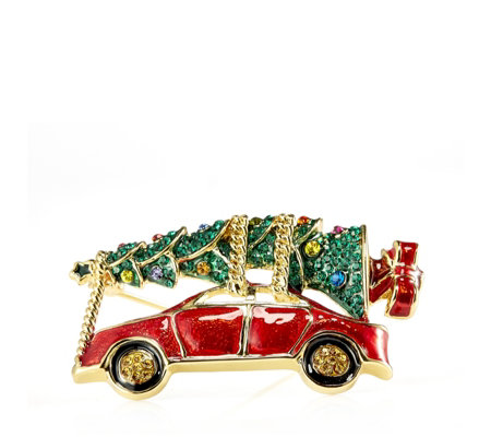 Butler & Wilson Christmas Tree Car Brooch