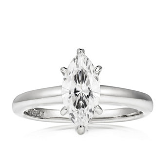 Diamonique 2ct tw Marquise Solitaire Ring Sterling Silver - 308399