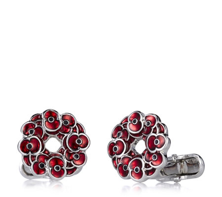 The Poppy Collection Wreath Cufflinks by Buckley London