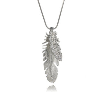 Frank Usher Crystal Double Feather 80cm Necklace - 312799