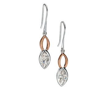 Fiorelli Marquise Drop Earrings Rose Gold Plated Sterling Silver - 314699