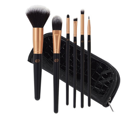 Rio 6 Piece The Essentials Cosmetic Brush Collection & Case