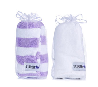 Turbie Twist Set of 2 Hair Towels Stripes - 400943