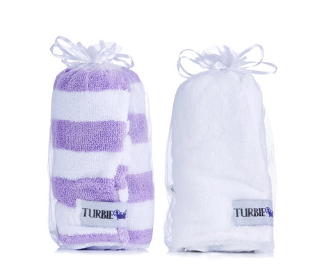 Turbie Twist Set of 2 Hair Towels Stripes