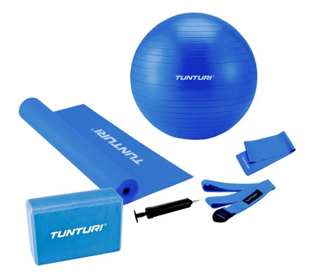 Marcy Tunturi Yoga Mat Block, Strap Resistance Band and Gym Ball Set