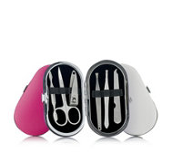 Set of 3 Mini Manicure Kits In Oval Cases