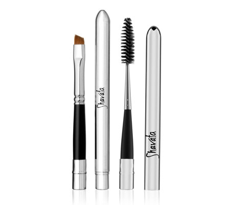 Shavata Red Sable Brush & Lash Brush