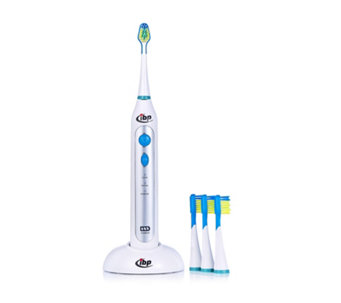 IBP Sonic Power Rechargeable Toothbrush with 4 Heads - 400953