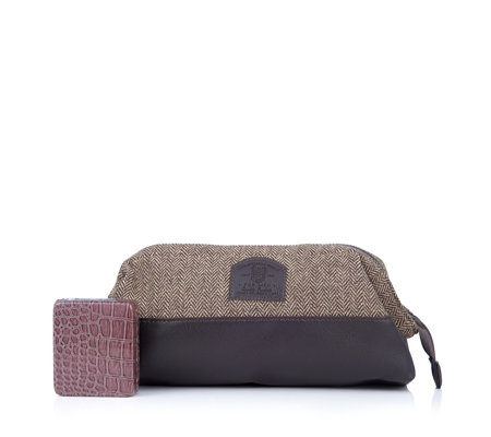 Brompton & Langley Men's Washbag with Pill Box