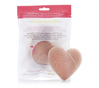 The Konjac Sponge Company Set Of 2 French Clay Heart Sponges - 401481