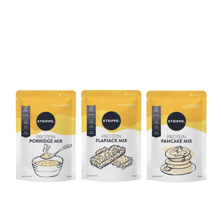 STRIPPD Protein Bundle To Make 24 Pancakes 24 Flapjacks& 10 Porridge Servings