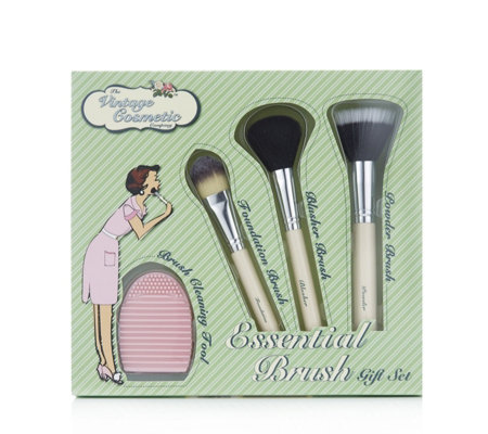 Vintage Cosmetics Essential Brush Gift Set