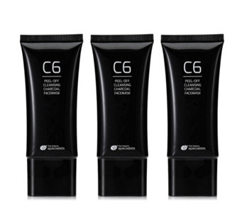 Rio C6 Pack of 2 Peel-Off Charcoal Face Masks & Blackhead Removing Tool - 401796