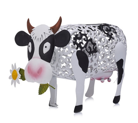 Smart Garden Metal Silhouette Solar LED Daisy Cow