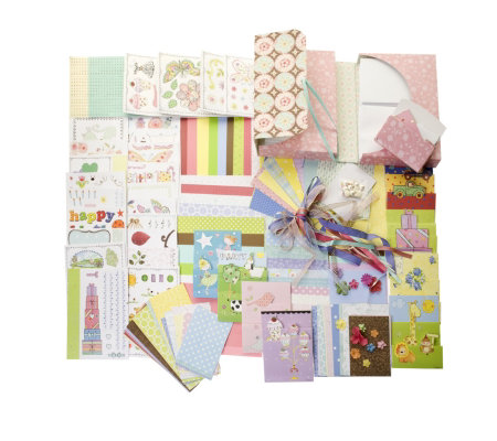 Dena Designs 60 Card Making Kit with Die Cuts, 10 Gift Tags & Embellishments