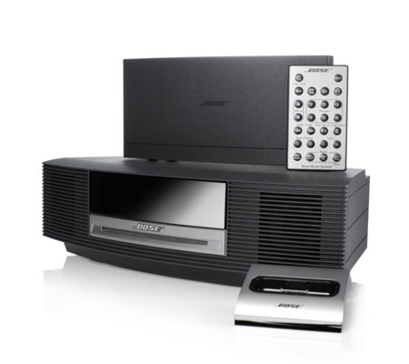 bose wave music system with dab radio ipod connect dock remote qvc uk. Black Bedroom Furniture Sets. Home Design Ideas