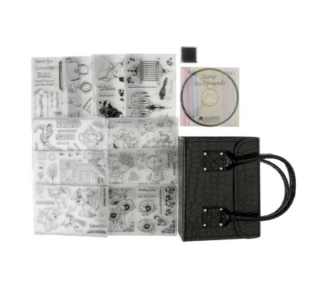 Set of 117 Stamps with CD Rom, Acrylic Block, Ink Pad and Deco