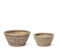 Garden Reflections Set of 2 Basket Planters - 513518