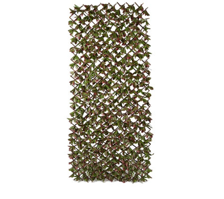 garden reflections expandable faux red robin privacy trellis qvc uk
