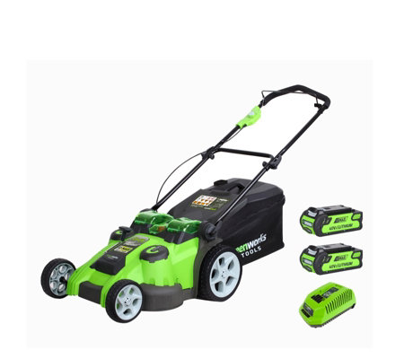 Greenworks 40v 49cm Dual Blade Cordless Lawnmower with 2 Batteries