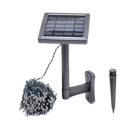Luxform 13m 250 LED Solar Powered Multi Function String Lights
