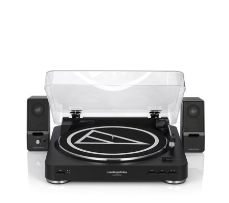 Audio Technica AT-LP60 Turntable with Active Speakers