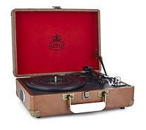 GPO Attache Stand Alone Turntable Record Player with Built in Speakers - 506435