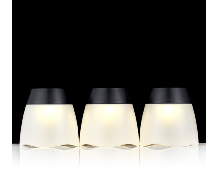 Luxform Set of 3 Turner Wave Plastic Tumbler Lights