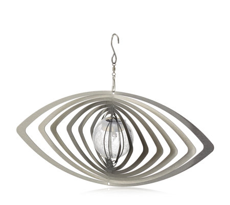 Home 2 Garden Stainless Steel Solar Orb Spinner