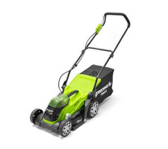 Greenworks 40v 35cm Cordless Rotary Lawnmower with 2 Batteries & Charger - 509736