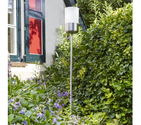 Luxform Solar Garden Stick Light with Frosted Lens