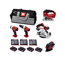 Einhell 5 Piece Lithium-ion Power Tool Set - 513138