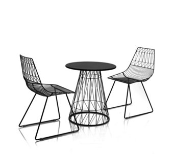 BundleBerry by Amanda Holden Bistro Table & 2 Chairs Set - 509539