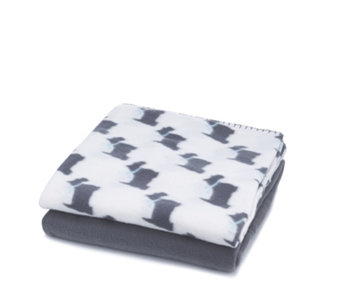 Cozee Home Pack of 2 Microfleece Pet Blankets - 508640